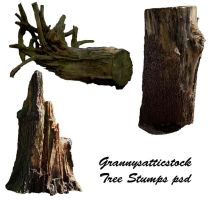 Tree Stumps psd by GRANNYSATTICSTOCK