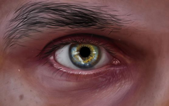 Window To The Soul (Photoshop Painting) by CreativeTouchArt