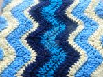 Baby Boy blanket Afghan wave by feathas