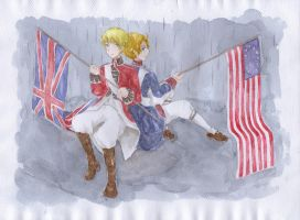 America and England by Ayuanlv
