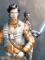 Poe and Finn by Teoft