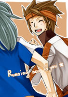 Running next to you by Erumi-n