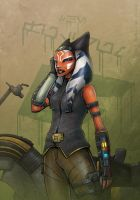 Biker Girl Ahsoka by Mono-Owl