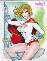 POWER GIRL art by RODEL MARTIN by rodelsm21