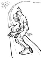 Silver Surfer_gel pen drawing by FooRay