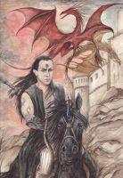 Blackthorn Red Dragon by morgansartworld