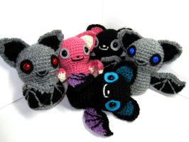Bat Amigurumis by Sparrow-dream