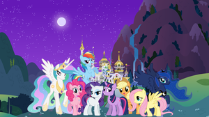 My Little Pony Wallpaper- Canterlot background by freeze1999