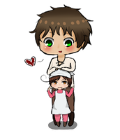 Spain and Chibi Romano *3* by OishiiTaco