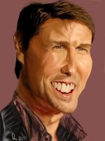 Tom Cruise Caricature by danb13