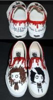 Sweeney Todd shoes by TimBurtonFan11
