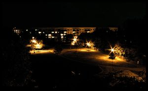 My Hood at Night by fL0urish