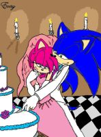 Sonamy Wedding - Colored by StarTheHedgeCat