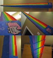 Nyan Cat Tower by nebulae-decay
