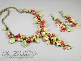Jewelry set - Warm Autumn by polyflowers