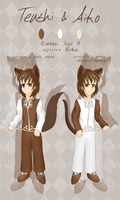 Tenshi and Aiko Reference Sheet by xAuraSolarisx