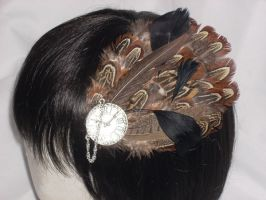 Pocket Watch Fascinator by Spooky-Elric