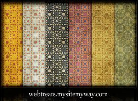 Grungy Vintage Dot Patterns by WebTreatsETC