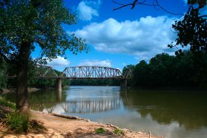 Wabash River Bridges by Dellessanna