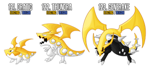Fakemon: 121 - 123 by MTC-Studio