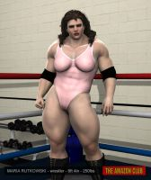 Maria Rutkowski - wrestler - 6ft 4in - 250lbs - 01 by theamazonclub