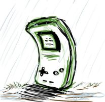 The Lonely Gameboy by SockArmy