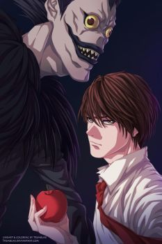(+video) Kira and Ryuk [UPDATED] by RamzyKamen