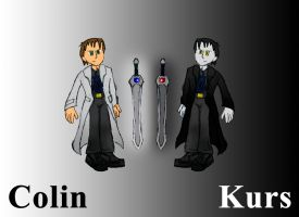 Colin and Kurs, OC Template by MysticM