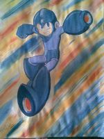 Megaman Watercolor by Kansuli
