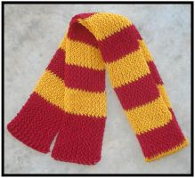 Commission - Gryffindor Scarf by RebelATS