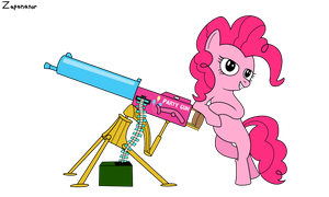 Pinkie's New Cannon by zaponator