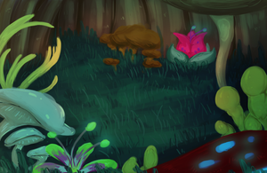 Fungal Forest by SilverWingStorm
