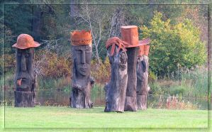 Easter Island statues... by Yancis