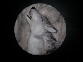 Resin-Painted Wolf Medallion by Blitzava