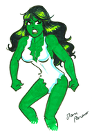 Veronica as Savage She-Hulk by Dan Parent by cerebus873