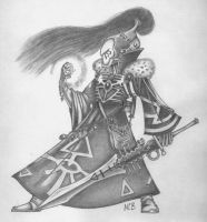 eldar pencil drawing by Axel-Grungy