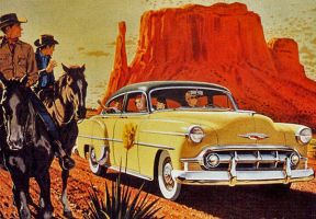 age of chrome and fins: 1953  Chevrolet by Peterhoff3