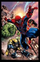 Spidy and friends by Extreme74
