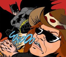 Dross vs batman by lukarl