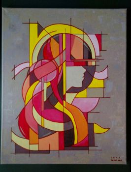 Cubism painting: funky music by sakijane