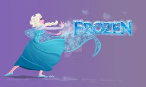 Elsa, Disney's Frozen by buttercupLF