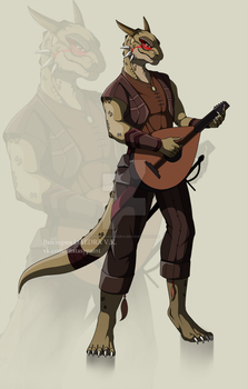Commission_argonian by VictoriaDAEDRA