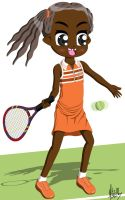 More tennis with Ludy by Yitzin