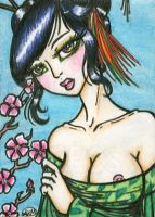 Geisha ACEO No. 1 by alyssakay