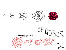 my rose drawing practice of process...ness. by xC0DE666x