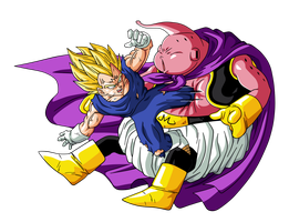 Majin Vegeta VS Bubu by BardockSonic
