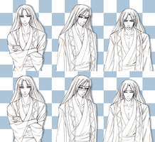 Ren Sprite Set (sketch) by Lady-Suchiko