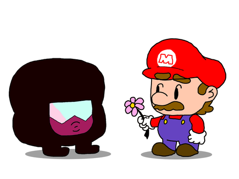 Tiny Mario and Garnet by JumpinJammies
