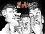 The Boys Caricature by DoodleArtStudios