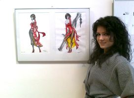 Me and My work in the Exhibition :) 3. by Trix92